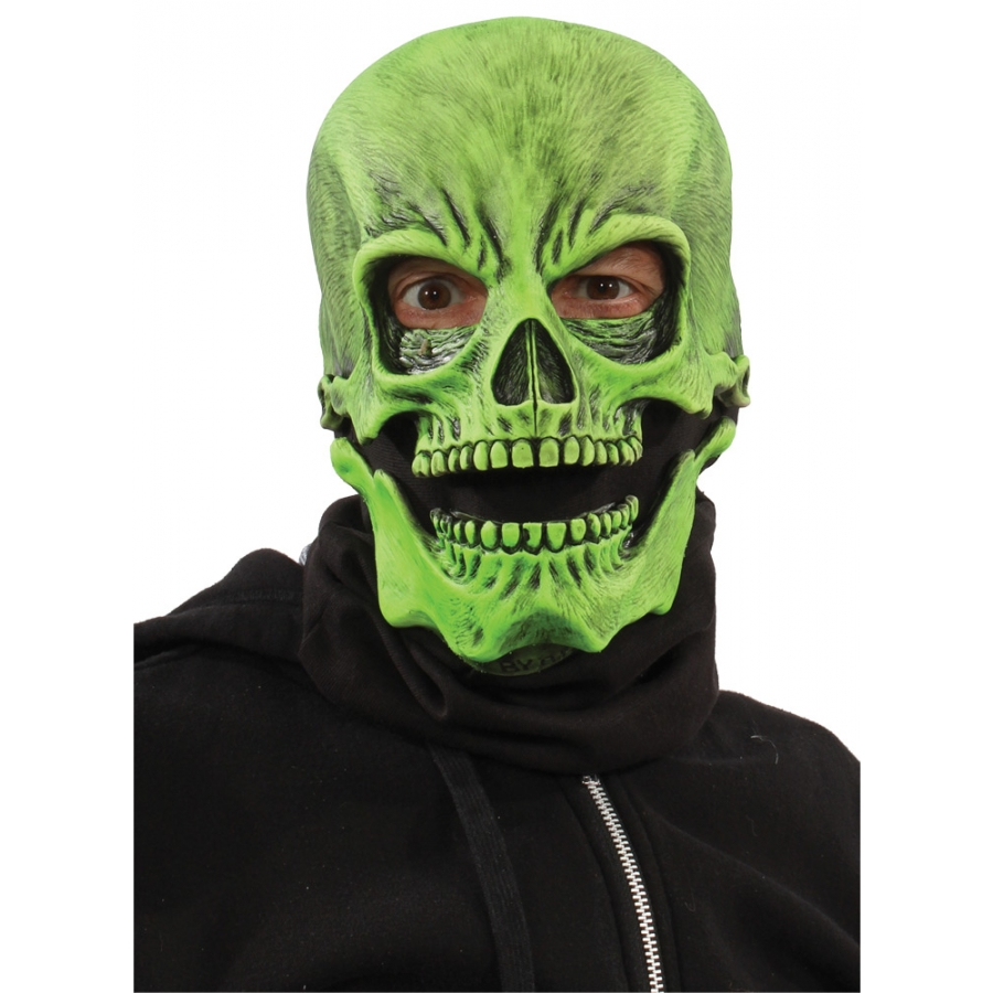 UV GREEN SOCK SKULL MASK
