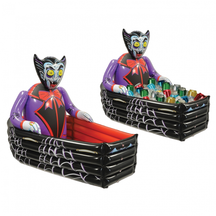 INFLATE VAMPIRE COFFIN COOLER