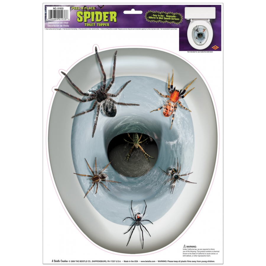 SPIDER TOILET TOPPER PEEL N PL