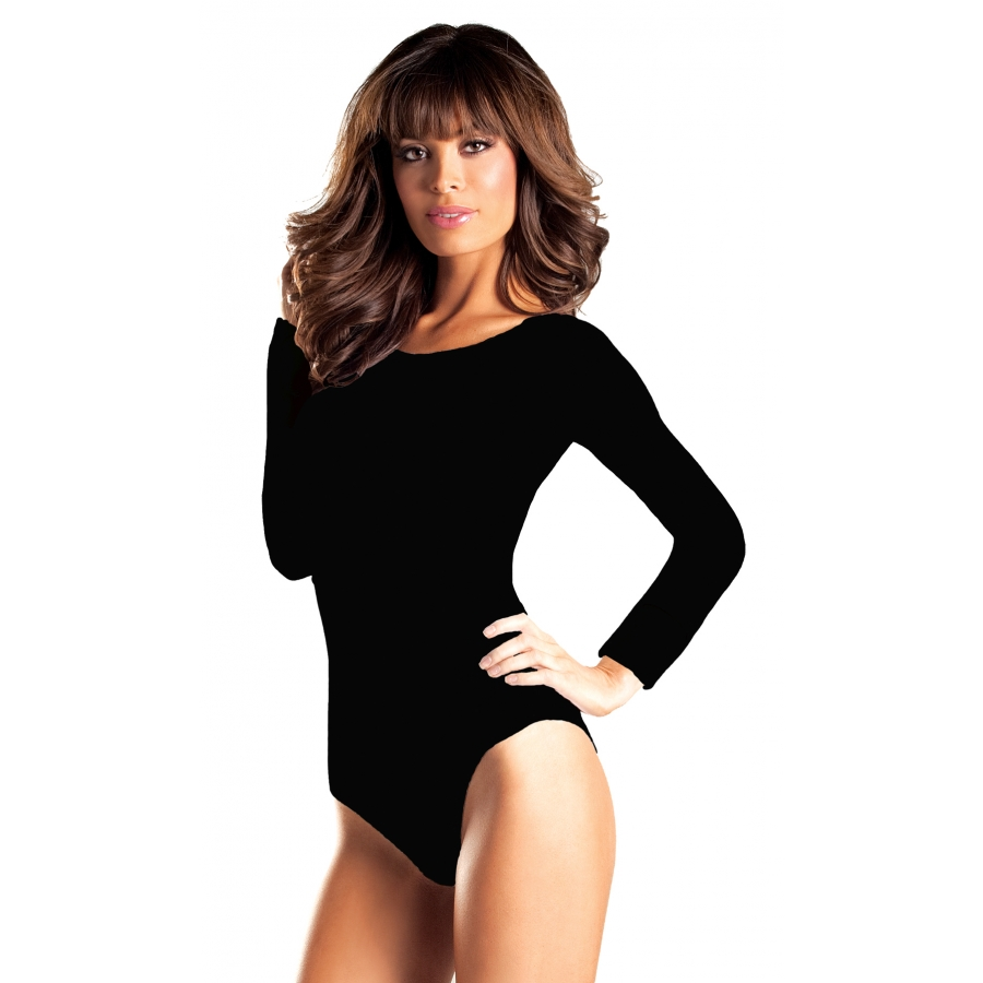 LEOTARD LONG SLEEV BLACK MD LG