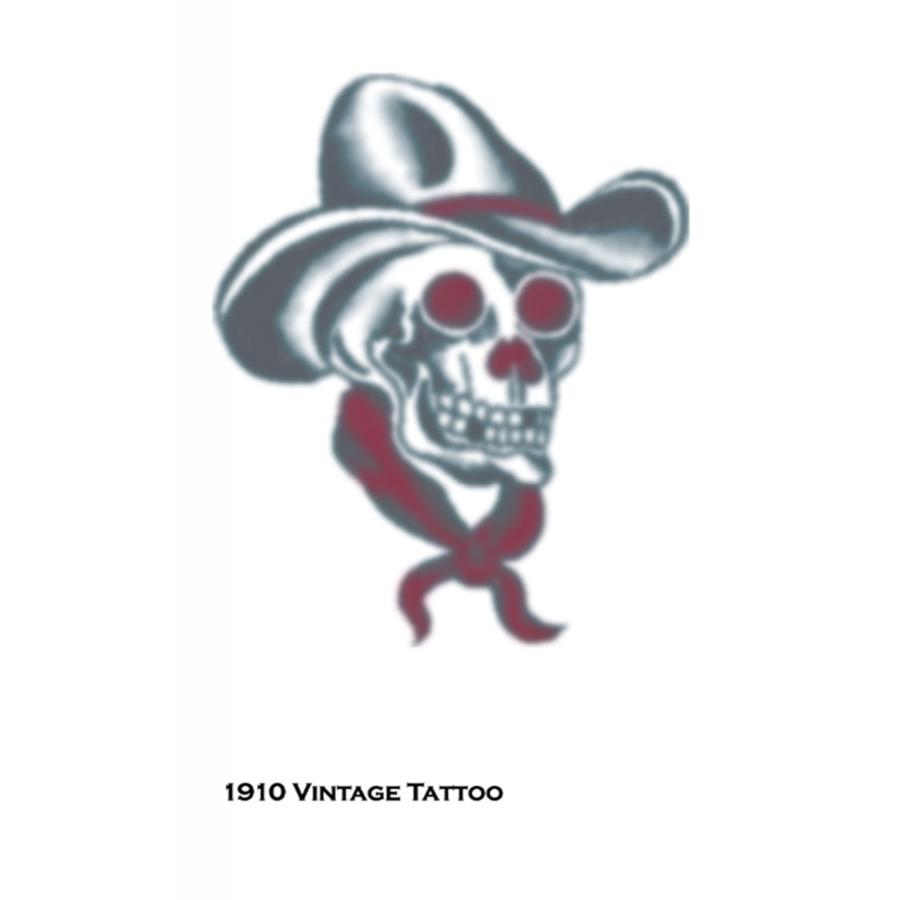 Vintage Hat Tattoos: TATTOO VINTAGE SKULL COWBOY