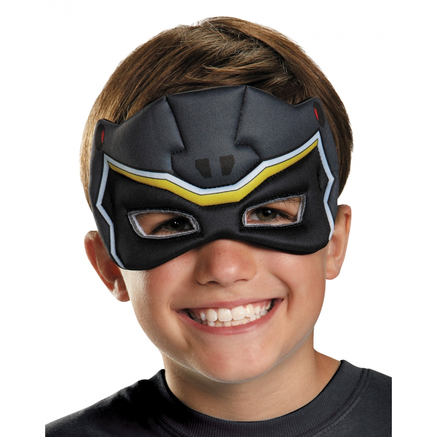 BLACK RANGER DINO PUFFY MASK