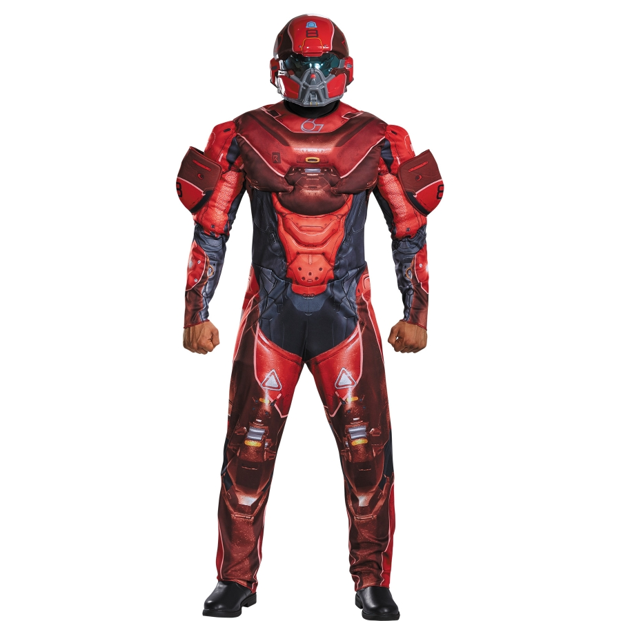 RED SPARTAN MUSCLE ADULT 38 40