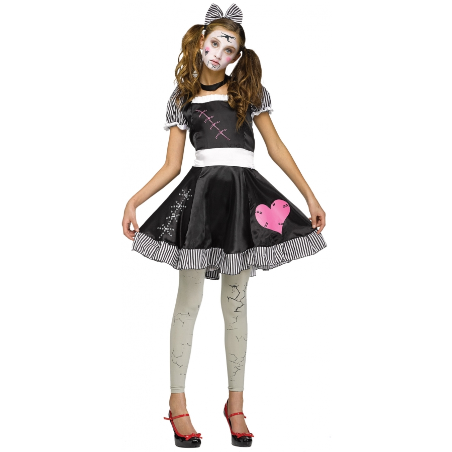 BROKEN DOLL JUNIOR TEEN 0 9  sc 1 st  World-Costume.com & Teen and Young Adult Costumes : Couples Halloween Costumes Halloween ...