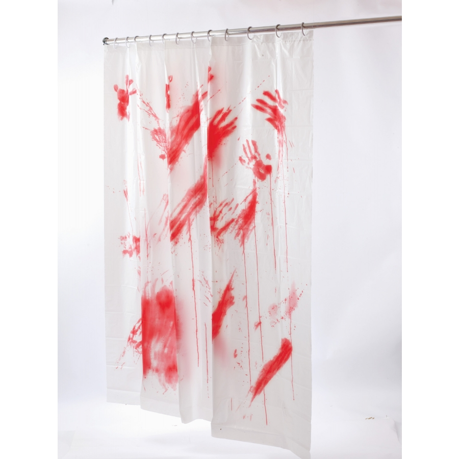 BLOODY SHOWER CURTAIN