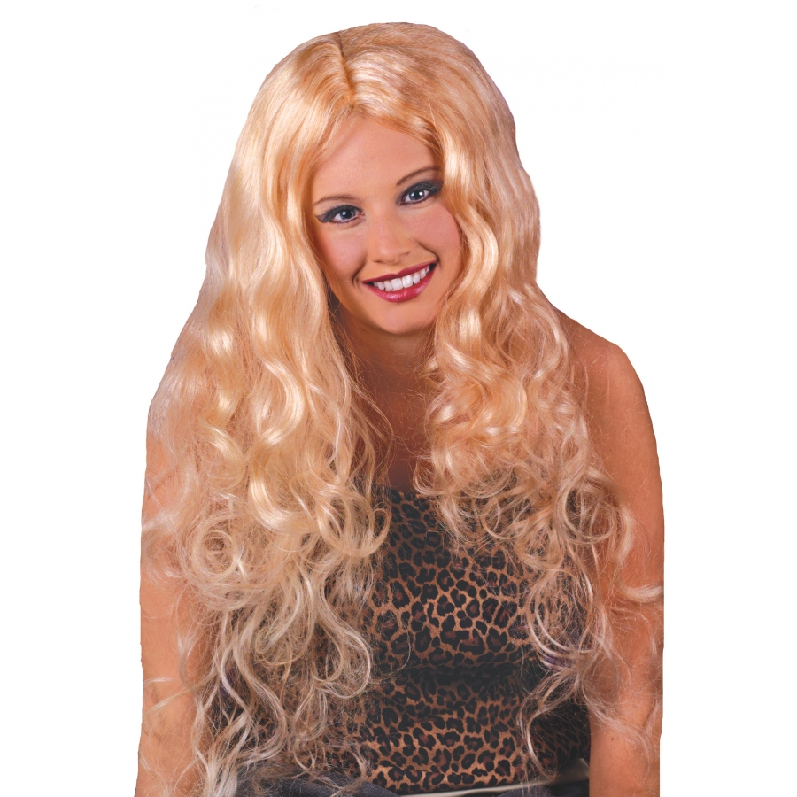 WIG 30 INCH CURLY BLONDE