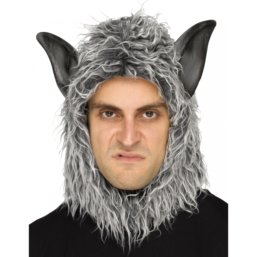 WOLF MAN OR BEAST MASK GREY