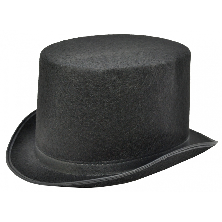 TOP HAT BLACK FELT MEDIUM