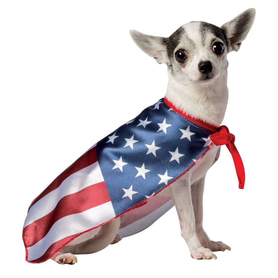 USA DOG FLAG CAPE SMALL