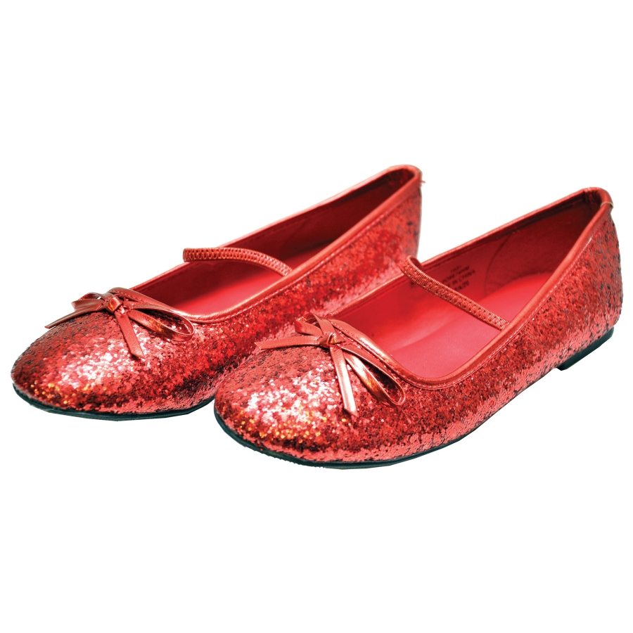 Childrens Red Satin Ballet Shoes