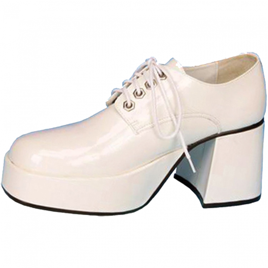 SHOE PLATFORM WHT PAT MEN MD