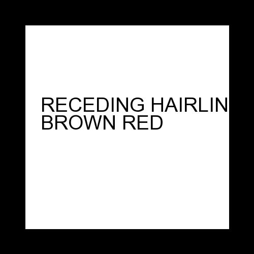 RECEDING HAIRLINEMD BROWN RED