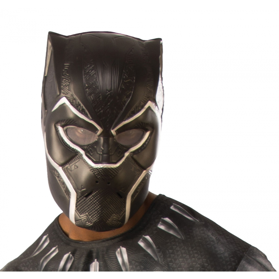 BLACK PANTHER 1/2 ADULT MASK