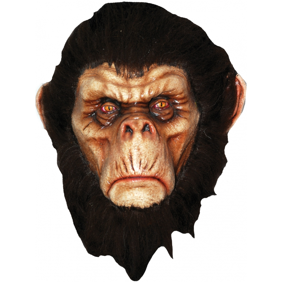 BAD BROWN CHIMP LATEX MASK