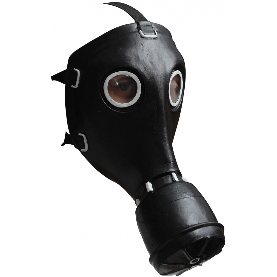 GP 5 GAS BLACK LATEX MASK