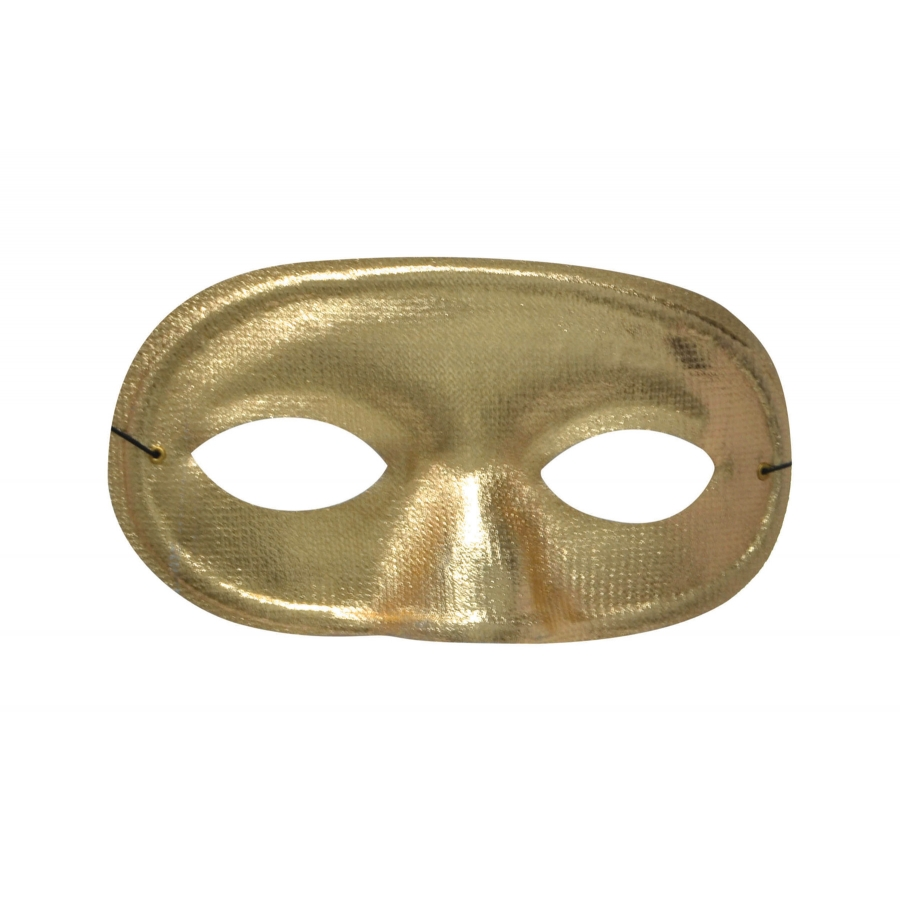 HALF DOMINO MASK METALLIC GOLD
