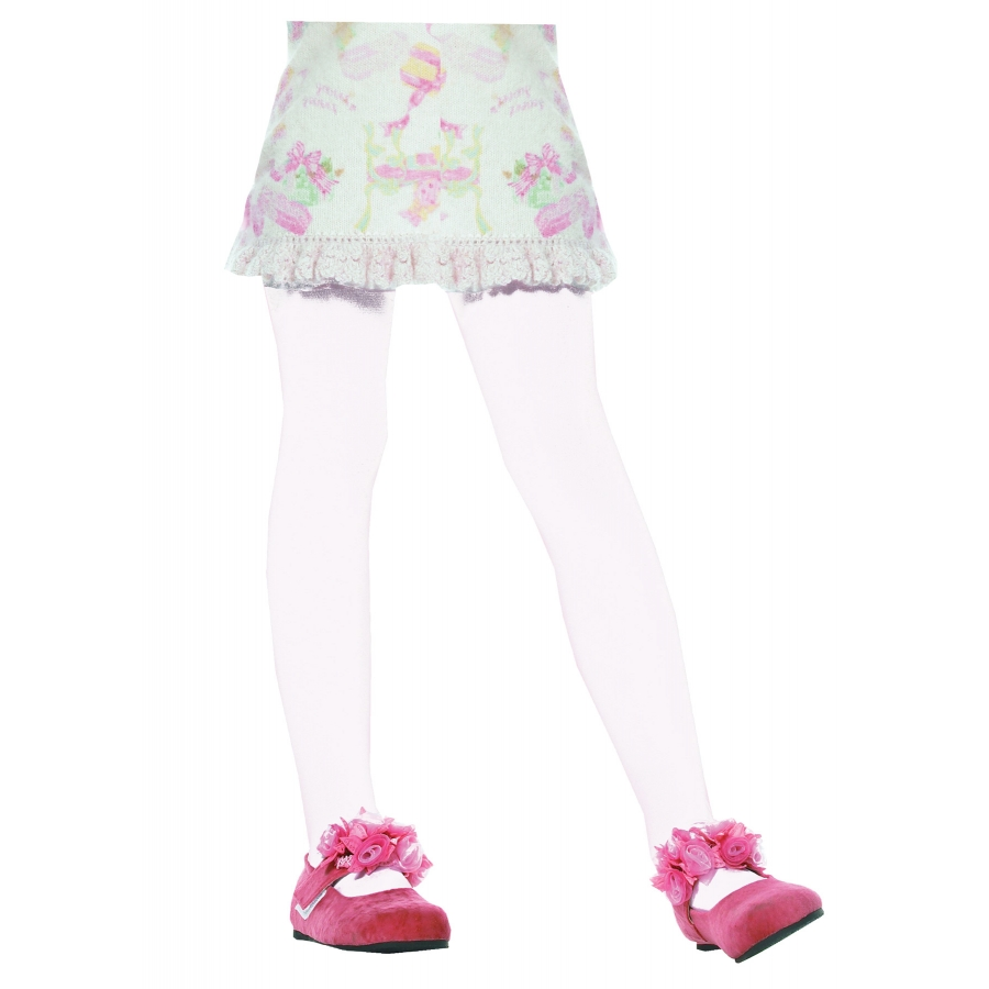 TIGHTS CHILD WHITE MEDIUM 4 6