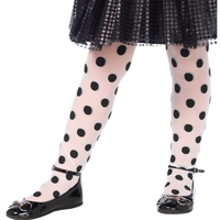 TIGHTS POLKA DOT BK/WT CHILD