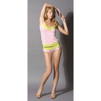 LACE TRIMMED CAMI PINK MEDIUM
