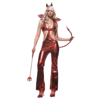 DEVIL JUMPSUIT SIDE SLIT LG