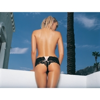 TANGA PANTY RED BLK MED LG